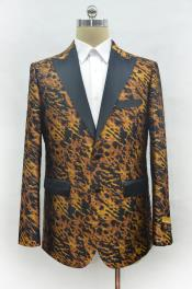Mens Leopard - Animal Print Peak Lapel Cheap Priced Designer Fashion Dress