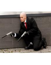 Agent 47 Custom Jacket + Pants Red Tie