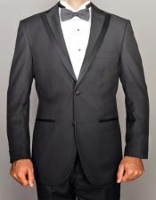 Fiorelli Modern Lapel Tuxedo In Beige Black