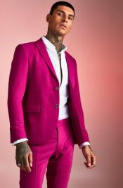 Mens Pink Two Button  Homecoming Outfit