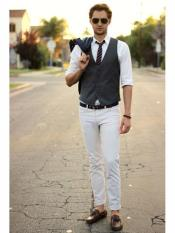High school Boys Homecoming Dark Gray Five Button Closure Outfit