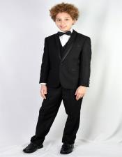 Wool Blend Black Tuxedo
