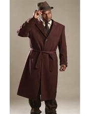 Wine One Button Peacoat for Men