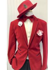 Red Ticket Pocket Two Button Suit