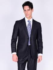 Bertolini Men's Suit-Solid Gray- High End Suits - High Quality Suits