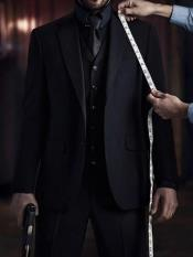 John Wick Vested Black Suit Costume