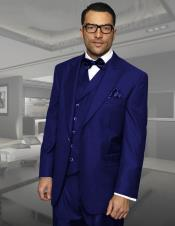 Dark Navy Peak Lapel 3 Piece