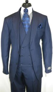 Stitch Double Breasted Shawl Lapel Peak Lapel Suits With Double breasted