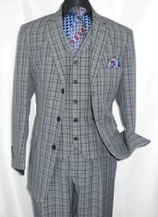 3 Piece Checkered Suit
