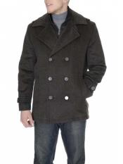 Mens Dress Coat Brown 6-On-3 Overcoat ~ Long Mens Dress Topcoat -