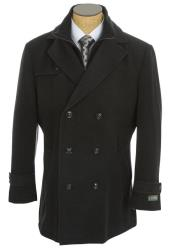 Dress Coat Double Breasted Peacoat