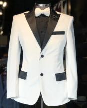 Tuxedo Dinner Jacket  + White