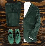 Tuxedo Dinner Jacket Mens blazer + Scarab Green