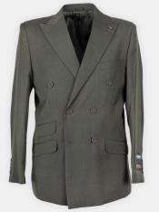Lapel Solid Double Breasted