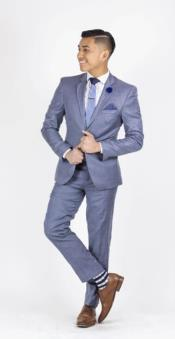Suit For boy / Guys Light Blue