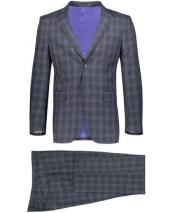 Single Breasted Notch Lapel Graduation Suit For boy / Guys