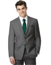 Grey Two Buttons Side Vent Graduation Suit For boy / Guys