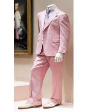 Mens 2 Button Costumes Outfit Male Attire Great Gatsby Suit