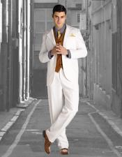 Wedding Striking Custom Made Off-White Wedding Suits Costumes Outfit Male Attire
