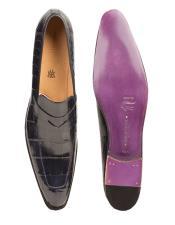Mezlan Brand Mezlan Mens Dress Shoes Sale G500-J By Mezlan In Blue