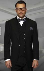 100% Wool Suit 1 Button Suits Peak Lapel Suits Vested Suits