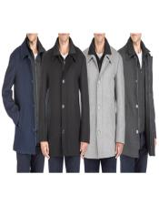 Classic-Fit 2-in-1 Wool Blend Bibbed Mens Car Coat