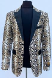 Jacket Blazer Alligator  Snakeskin Coat Snake Skin