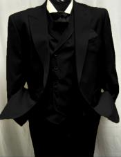Black Great Gatsby Look Wool Single button Pants