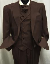 Mens Dark Brown Great GatsbyPleated Pants