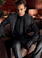 ~ Gray Suit + Free Black Shirt & Black Tie Package