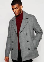 Wool Light Grey ~ Wine Wool Coat ~ Car coat ~