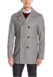 Light Grey ~ Wine Six Button Welt Slash Pockets  Wool