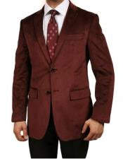 Velour Mens blazer Jacket Burgundy ~ Maroon ~ Wine Color Luxurious Velvet Highlights