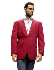 Mens blazer Jacket Sport Coat Its One of a Kind Super 150s For All Occasion Winish Burgundy