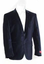 Mens blazer Jacket Black Luxurious soft velvet Coat