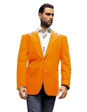 Mens blazer Jacket Orange Super 150s Fabric Sport Coat