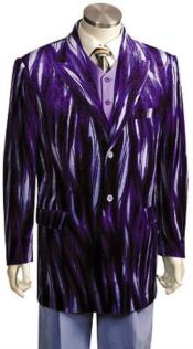 Mens blazer Jacket Mens Entertainer Purple Velvet Cool Sparkly Zebra Print