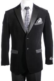 Button Velvet ~ velour Mens blazer Jacket / Blazer with Satin