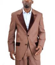 Mens blazer Jacket  Fashion Two Button Cotton Timmed Denim Velvet Lapel BlackBlueBrow