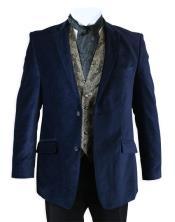 Mens blazer Jacket Velvet Smoking Midnight Blue