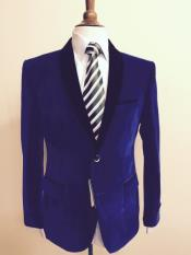 Mens blazer Jacket  Mens Velvet ~ Velour Fabric Dinner Tuxedo Black Lapeled