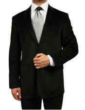 Mens blazer Jacket Black Kids Sizes Luxurious Velvet Highlights Two-Button Single-Breast Mens & Bo