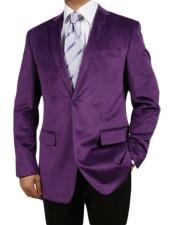 Purple Fully Lined Imported Velour Mens blazer