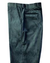 Mens Green velour Mens blazer Jacket Flat Front unhemmed unfinished bottom
