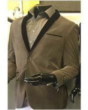 Shawl Lapel Velvet Blazer Available In Gray ~ Grey Tuxedo /
