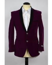 Velvet velour Mens blazer Jacket Purple