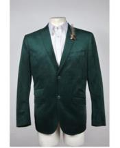 Mens 2 Button Velvet velour Mens blazer Jacket Hunter ~ Olive