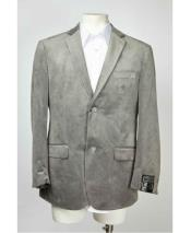 Mens Medium Gray ~ Grey 2 Button Velvet ~ velour Mens