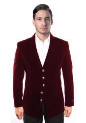 Mens blazer Jacket Mens 5 Button Dark Burgundy ~ Wine ~