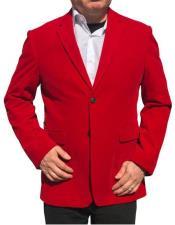 Alberto Nardoni Brand Red Velvet ~ velour Mens blazer Jacket Cheap Priced